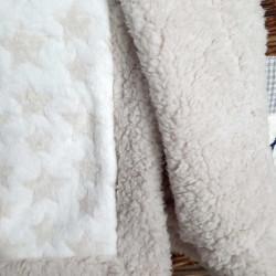 couverture bébé étoile fourrure-detail