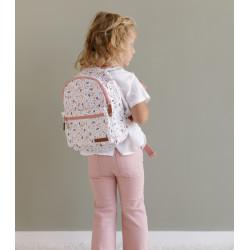 Sac maternelle enfant à fleurs rose de chez little dutch-detail