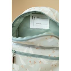 sac à dos maternelle, vert motif petite oies.-detail