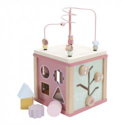 Cube d'éveil Little Dutch couleur Rose-detail
