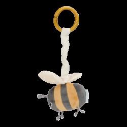 Peluche d'éveil abeille pour  poussette-detail