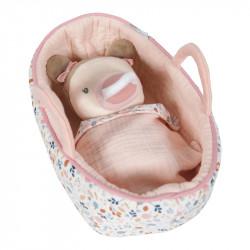 Bébé en tissu et son couffin Little dutch-detail