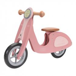 Draisienne en bois rose modèle scooter-detail