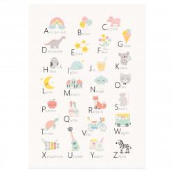 Affiche pour apprendre l'alphabet-detail