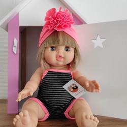 Maillot de bain poupée paola reina et son turban rose fluo-detail