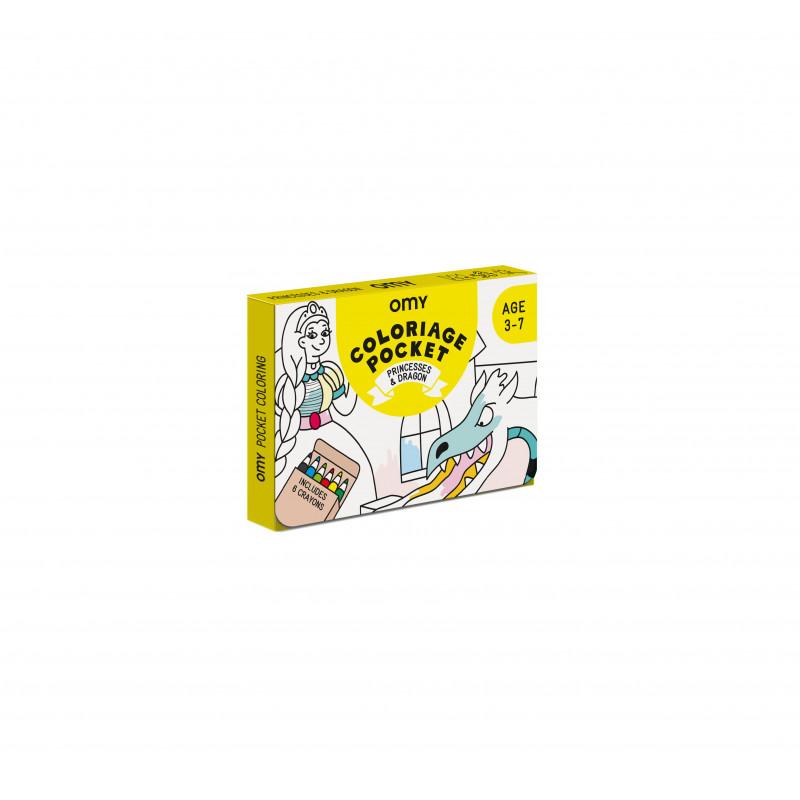 Kit de coloriage princesses d chez OMY