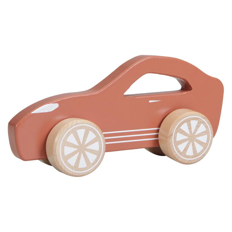 voiture en bois little Dutch couleur rouille