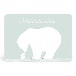 Carte hello little baby mint-detail