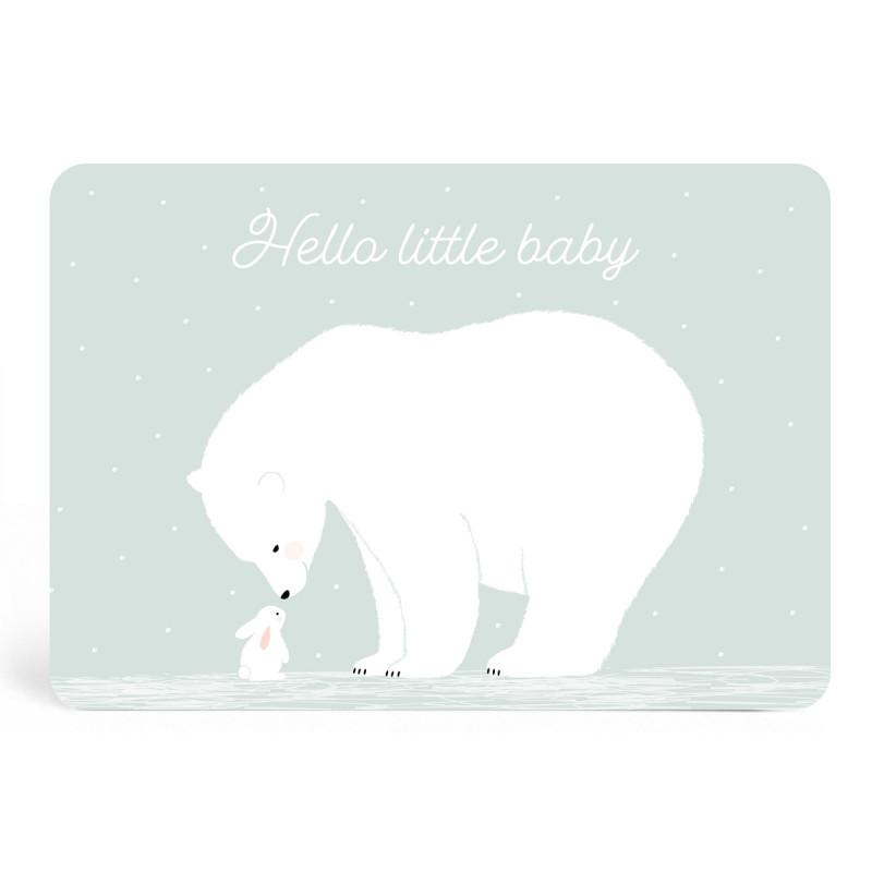 Carte hello little baby mint