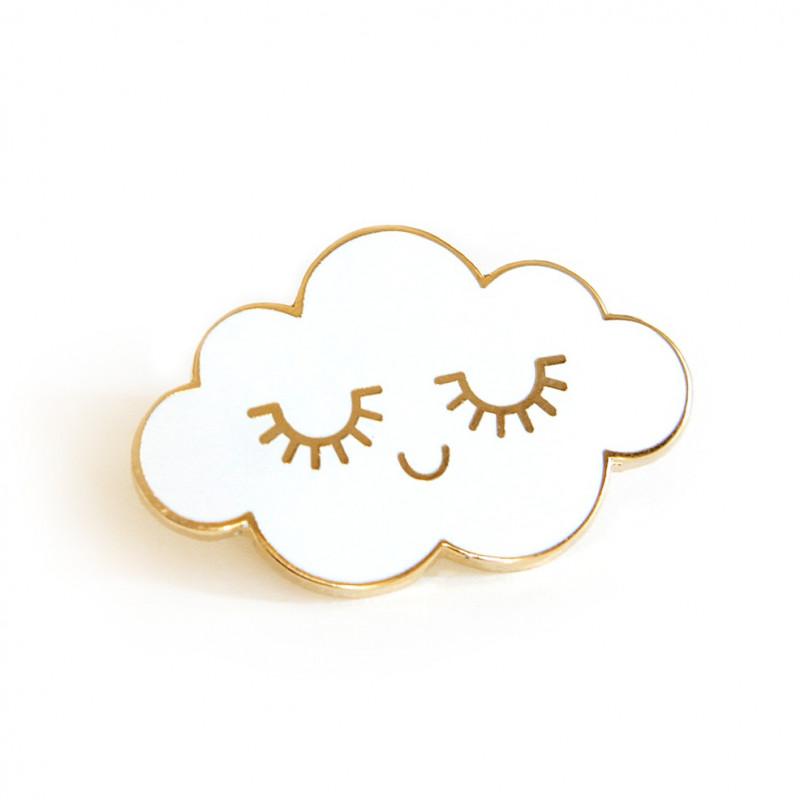 Pin's nuage blanc émaillé zu