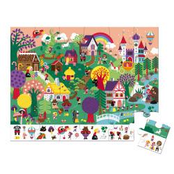 Puzzle enfants contes Janod-detail