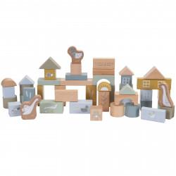 building bloc bleu Little dutch-detail