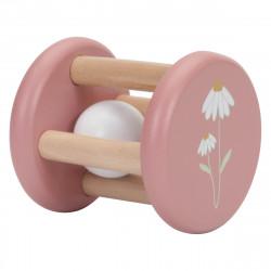hochet little dutch pink flower-detail