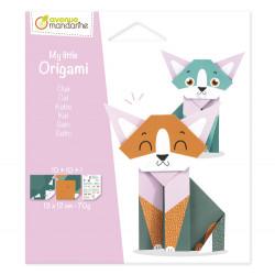 petit origami chat, avenue mandarine-detail