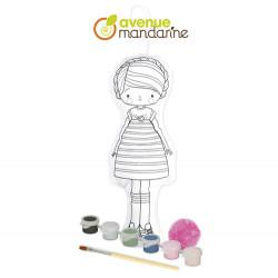 Poupée à peindre création enfants Laureen-detail
