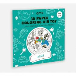 Atlas gonflable en papier à colorier OMY-detail