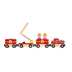 Train pompier en bois de la marque Janod-detail