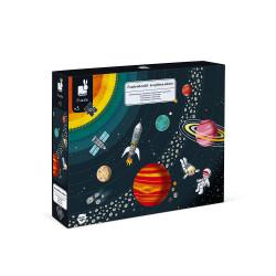 Puzzle éducatif système solaire de la marque Janod-detail