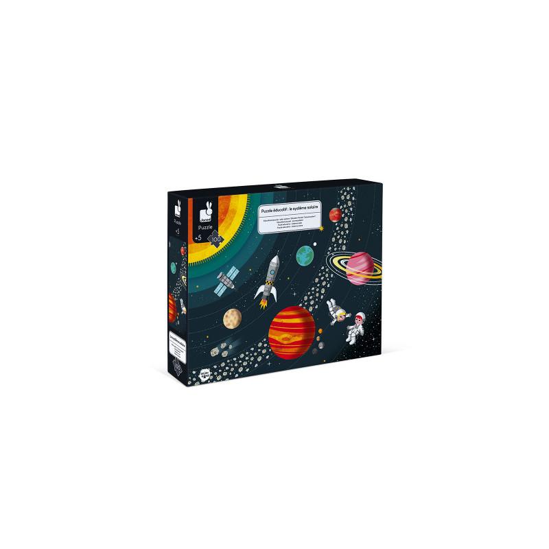 Puzzle éducatif système solaire de la marque Janod