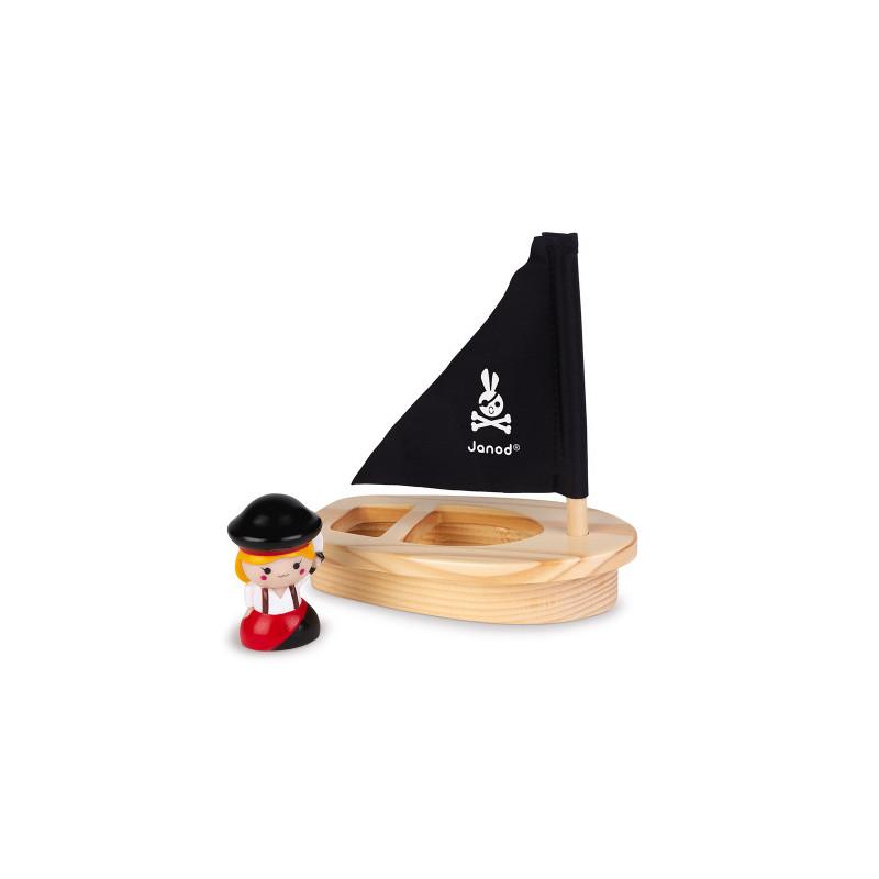 Capt'ain Melo et son navire en bois de la marque Janod
